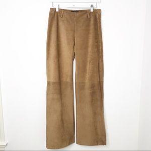 Ann Taylor | Tan Suede Wide Leg Pants